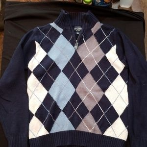 Boy's argyle sweater